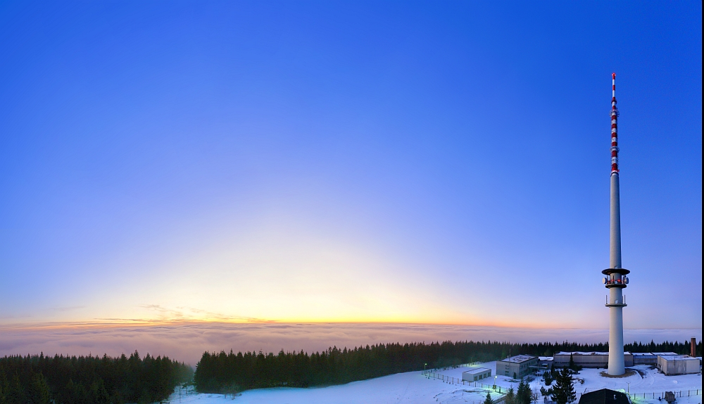 Der Bleßberg bei Sonnenuntergang