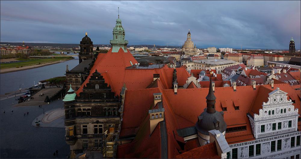Der Blick auf Dresden ...,
