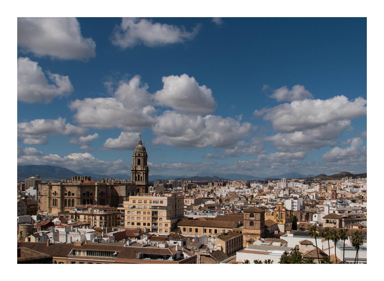 der Blick auf Malaga