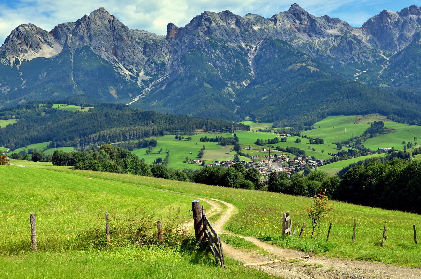 der blick auf maria alm foto bild landschaft berge alpen bilder auf fotocommunity. Black Bedroom Furniture Sets. Home Design Ideas