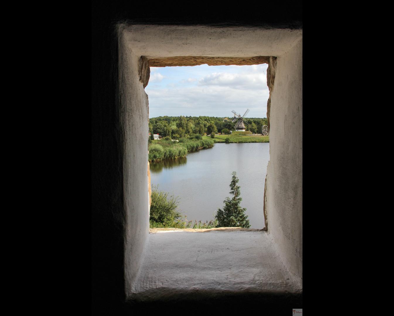 Der Blick durchs Fenster...