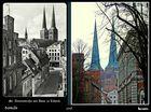 Der Blick geht durch die St. Annen-Straße am Museum vorbei über die Mühlenstraße zum Dom zu Lübeck