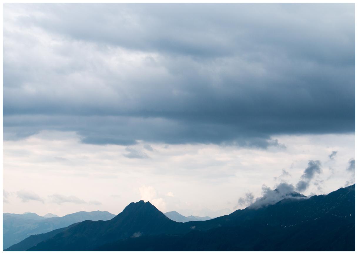 der Blick über die Gipfel
