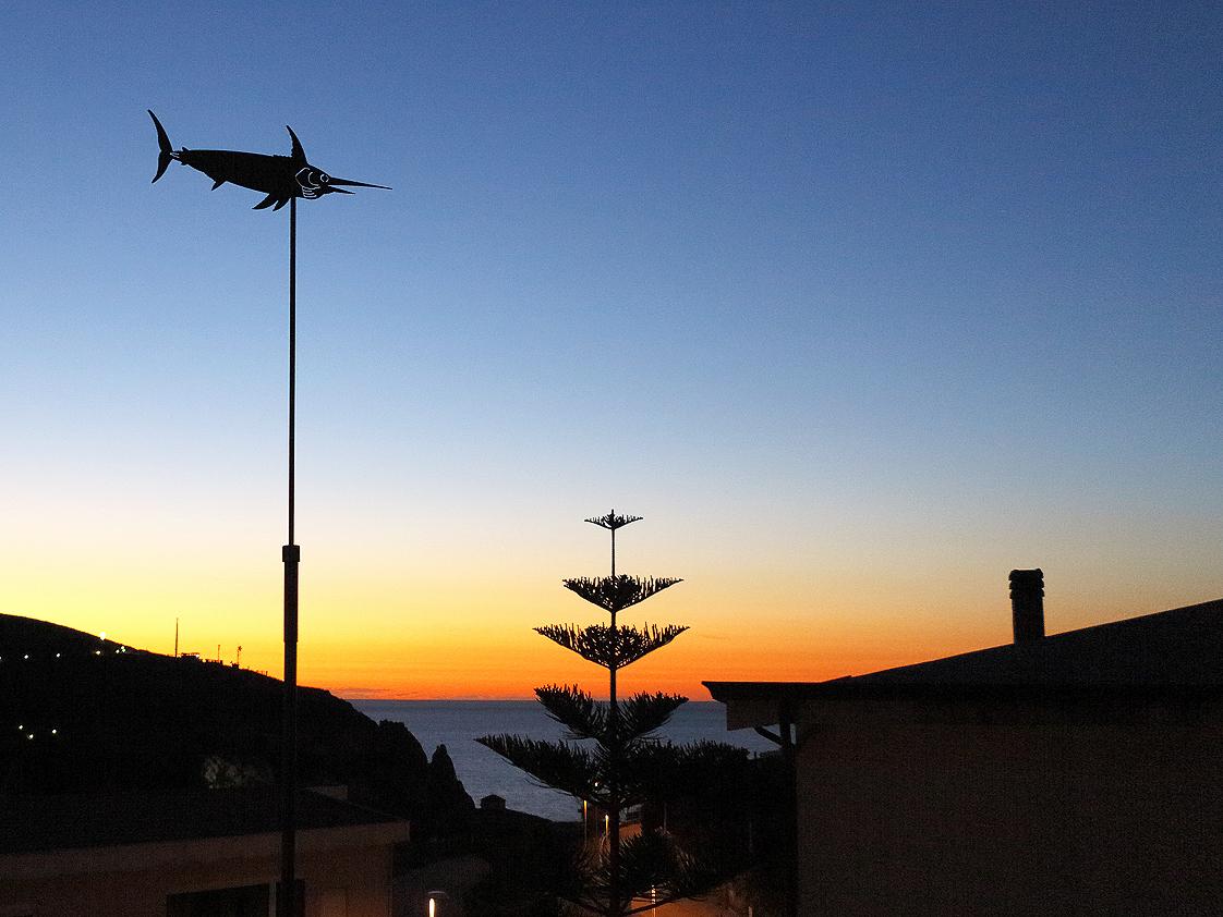 Der Blick von der Terrasse / La vista dalla terrazza