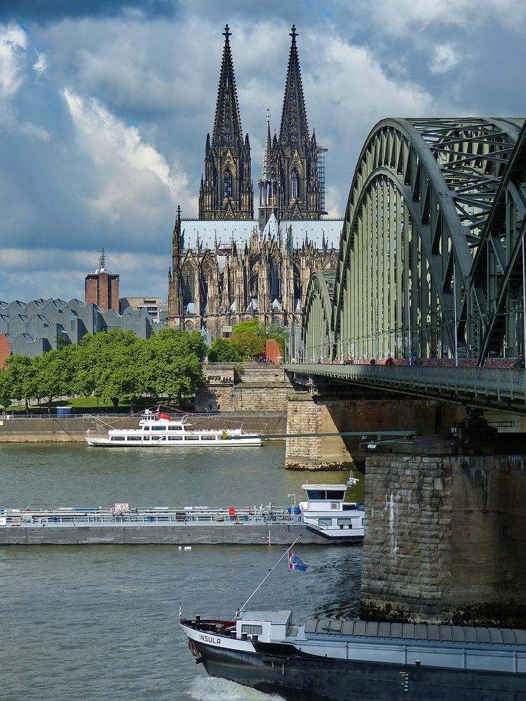 Der Blick zum Kölner Dom