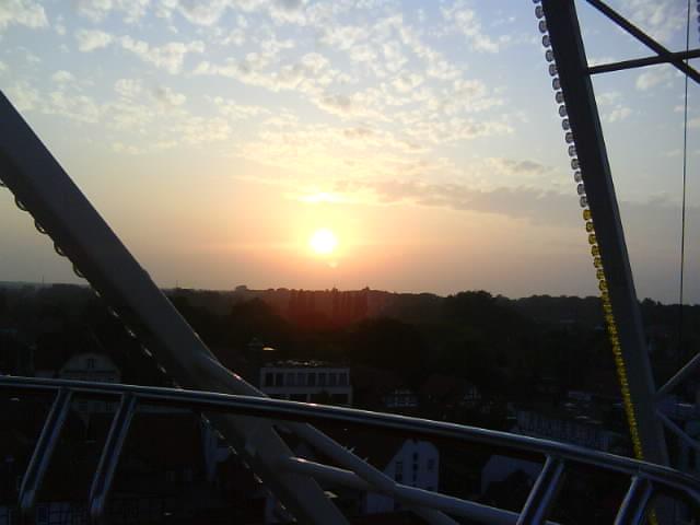 Der Blick zum Sonnenuntergang.