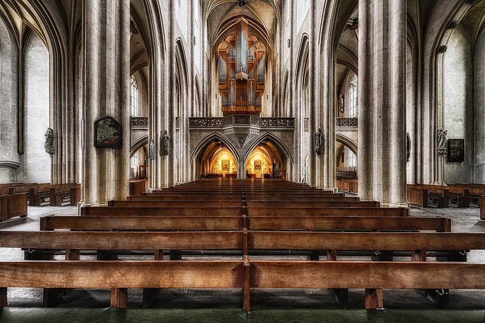 Der Blick zur Orgel