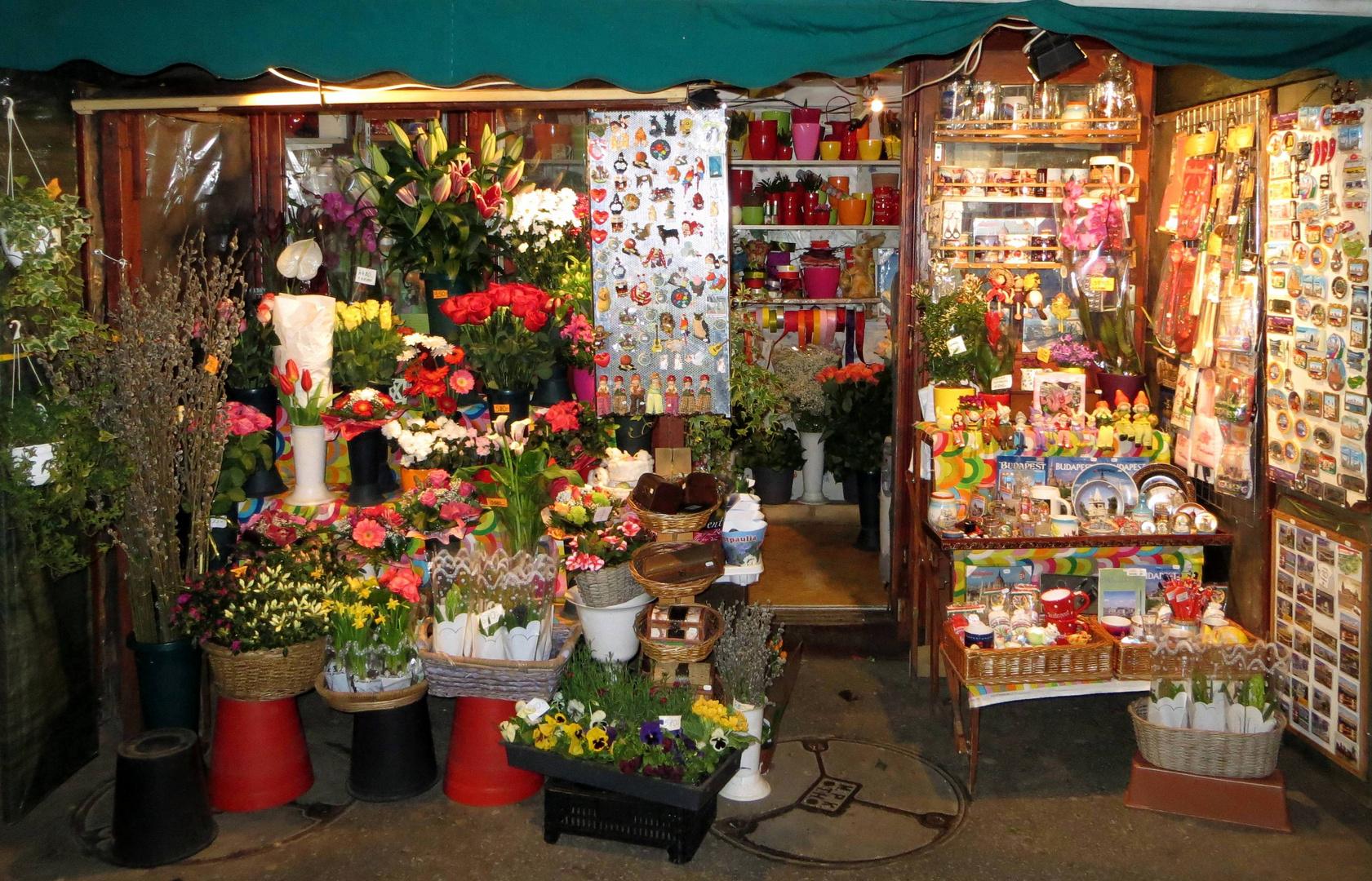Der Blumenladen am Strassenrand ...