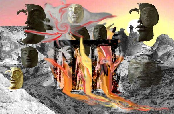 Der brennende Tempel
