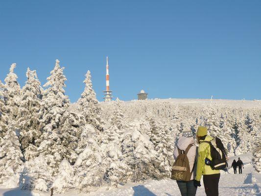 Der Brocken im Schnee