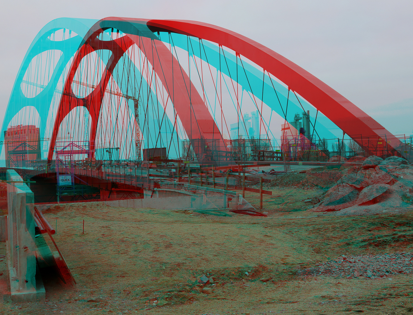 Der Brückenbau macht Fortschritte....