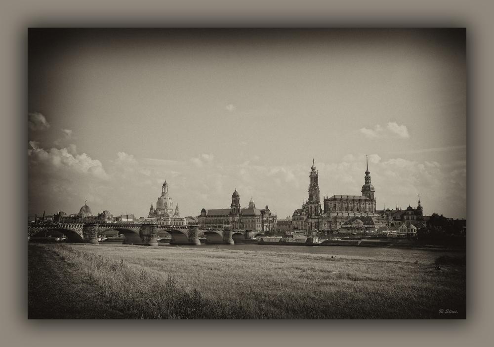 Der Canalettoblick in Dresden