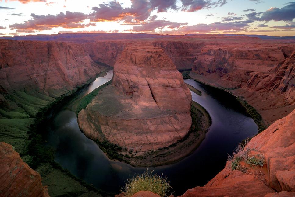 Der Colorado Mäander Horseshoe Bend bei Page in Arizona