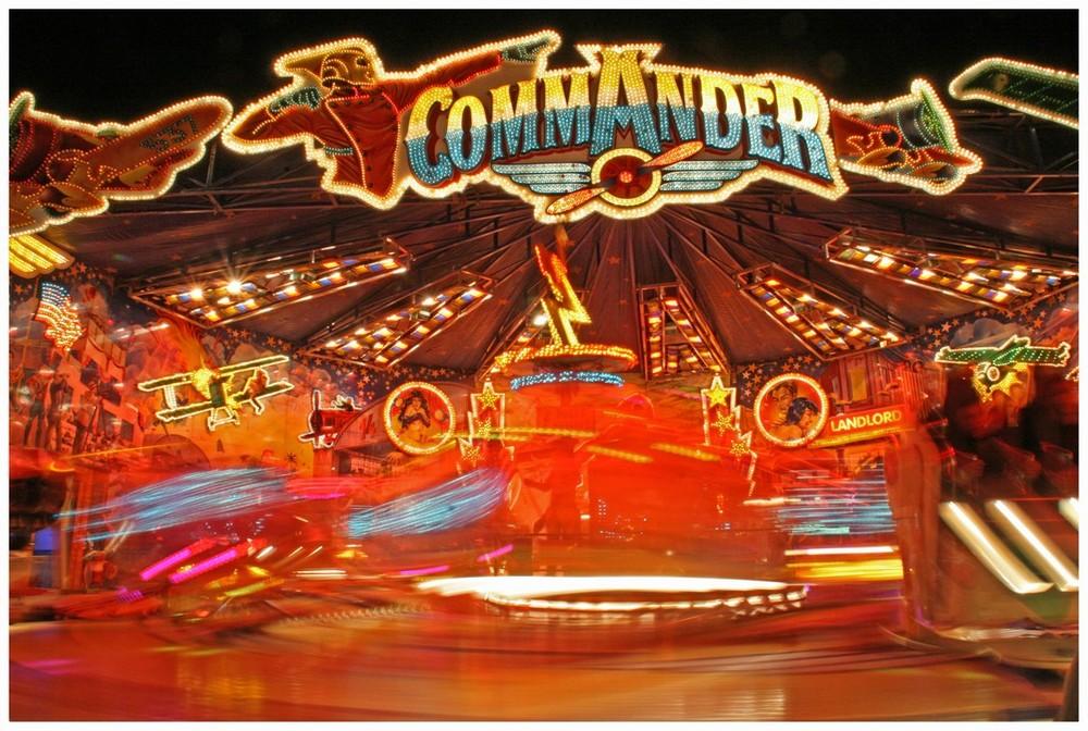 Der Commander in Bewegung