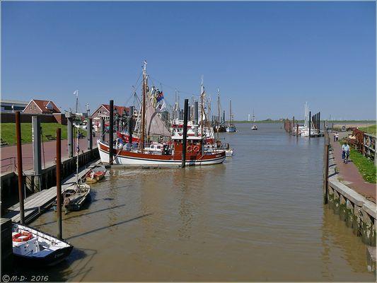 Der Ditzumer Hafen....