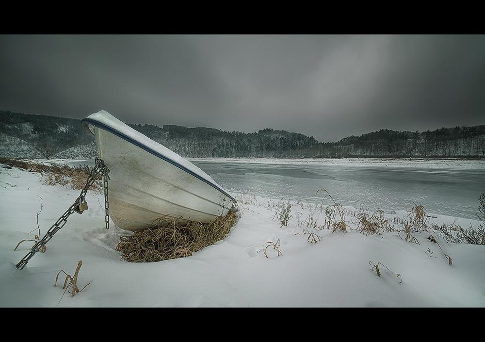 der Edersee im Winter