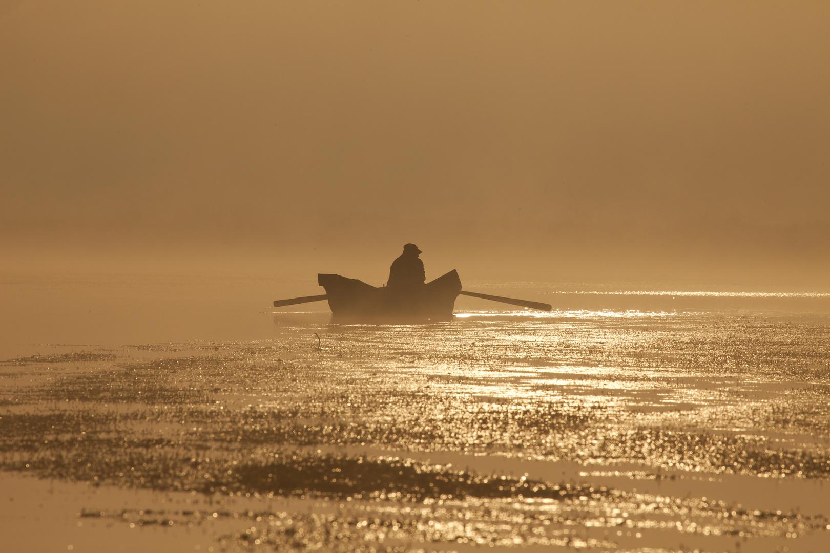 Der einsame Fischer....