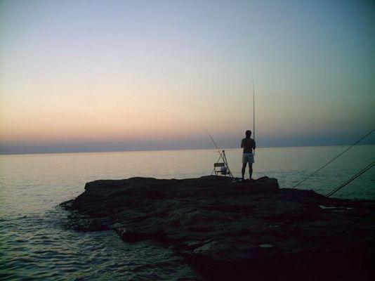 Der einsame Fischer