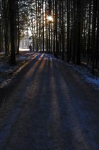 Der einsame Wanderer im Sonnenuntergang