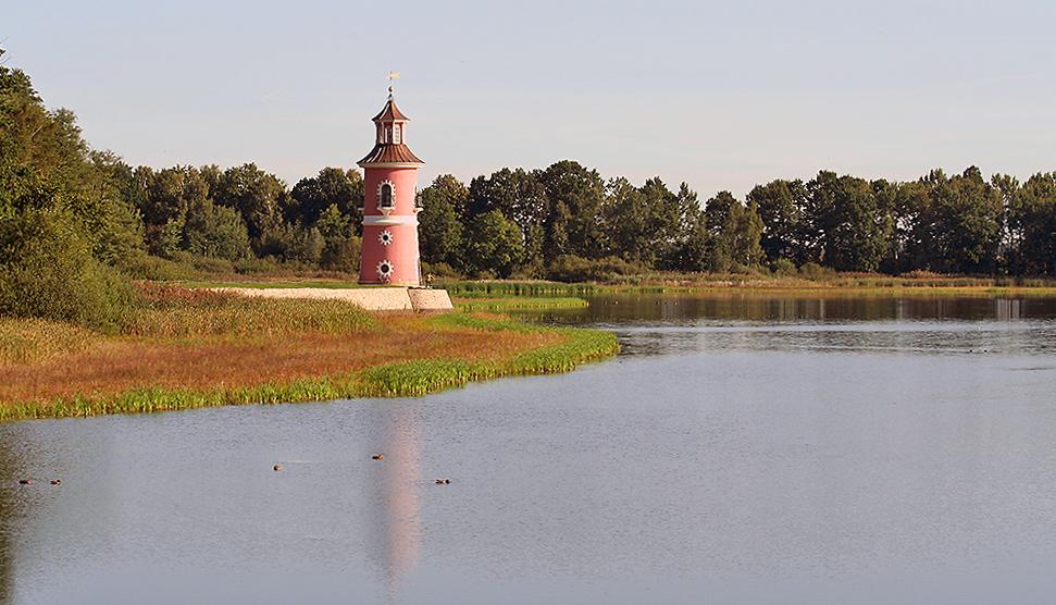 der einzige deutsche Leuchtturm im Binnenland wurde wieder nach Baumaßnahmern übergeben