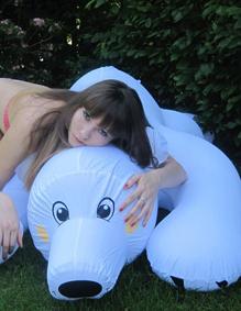 Der Eisbär und ich im Sommer