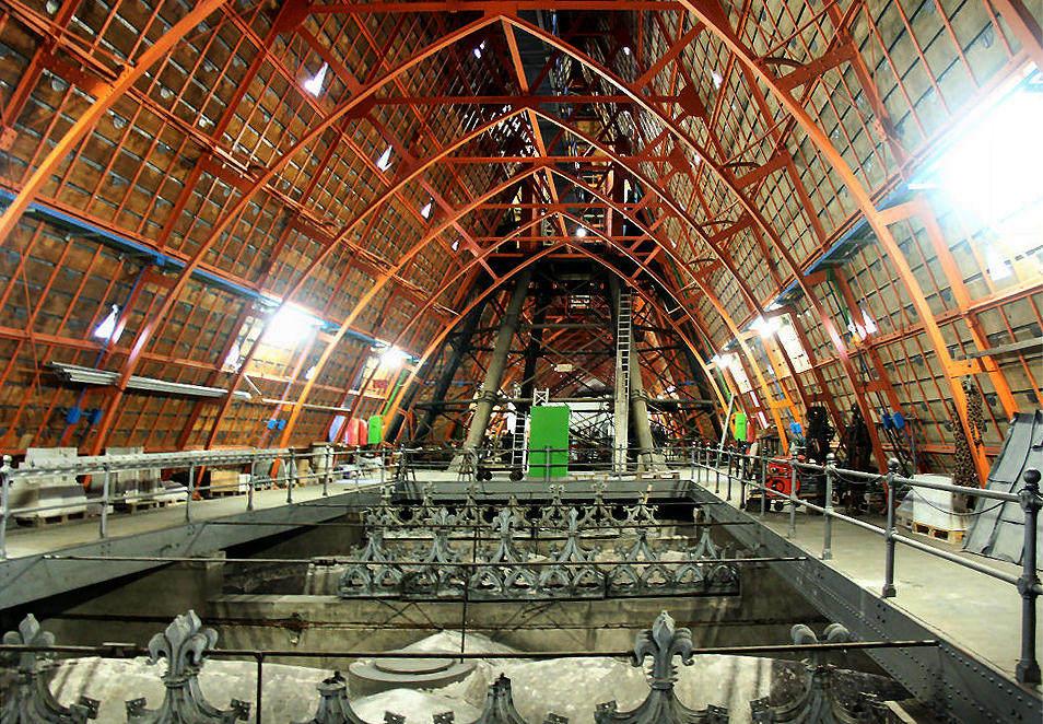 der eiserne Dachstuhl des Kölner Doms
