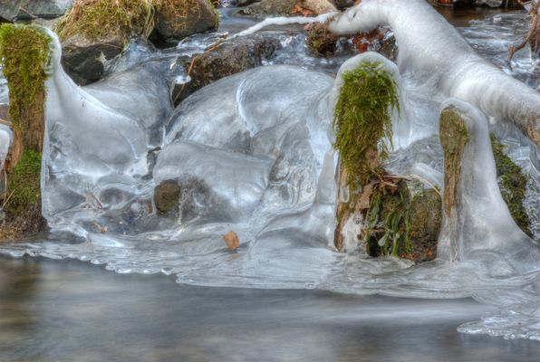 Der Eisfluss im Gelpetal
