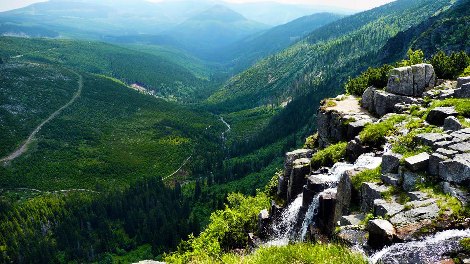 Der Elbfall im Riesengebirge