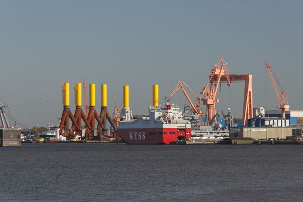 Der Emder Hafen