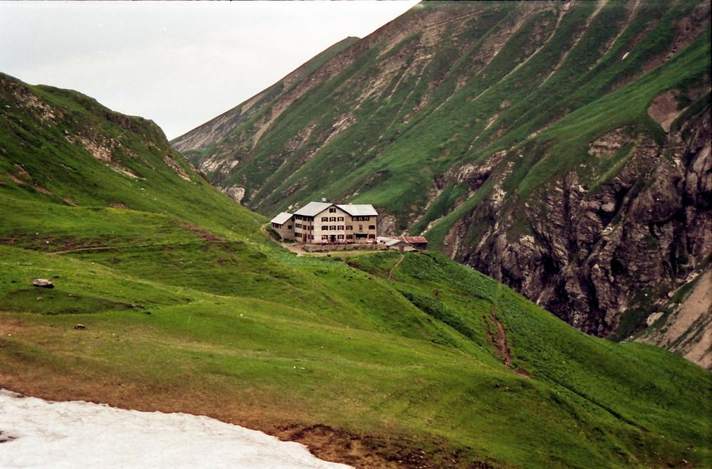 Der erste Blick auf die Kemptener Hütte