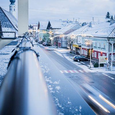Der erste Schnee am 26.12. im Attergau