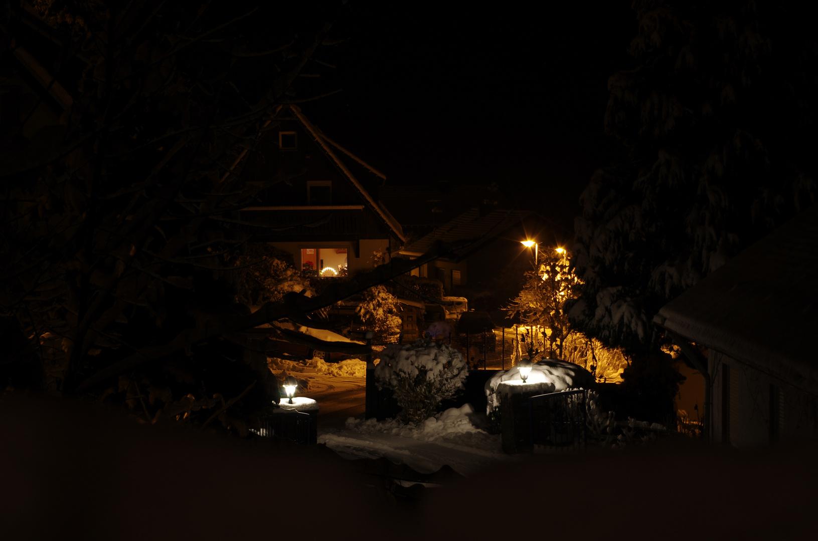 Der erste Schnee am Abend