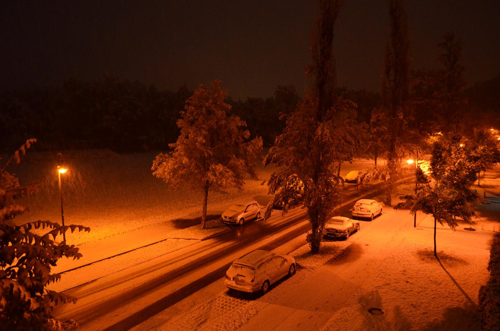 der erste Schnee in Bayern ....