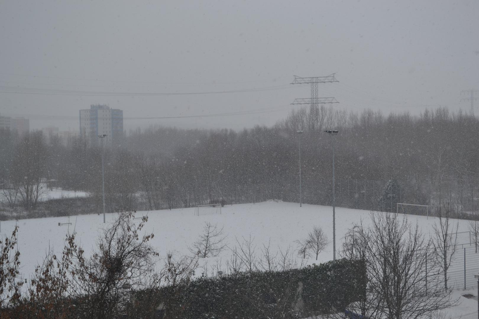 Der erste Schnee ist in Berlin angekommen
