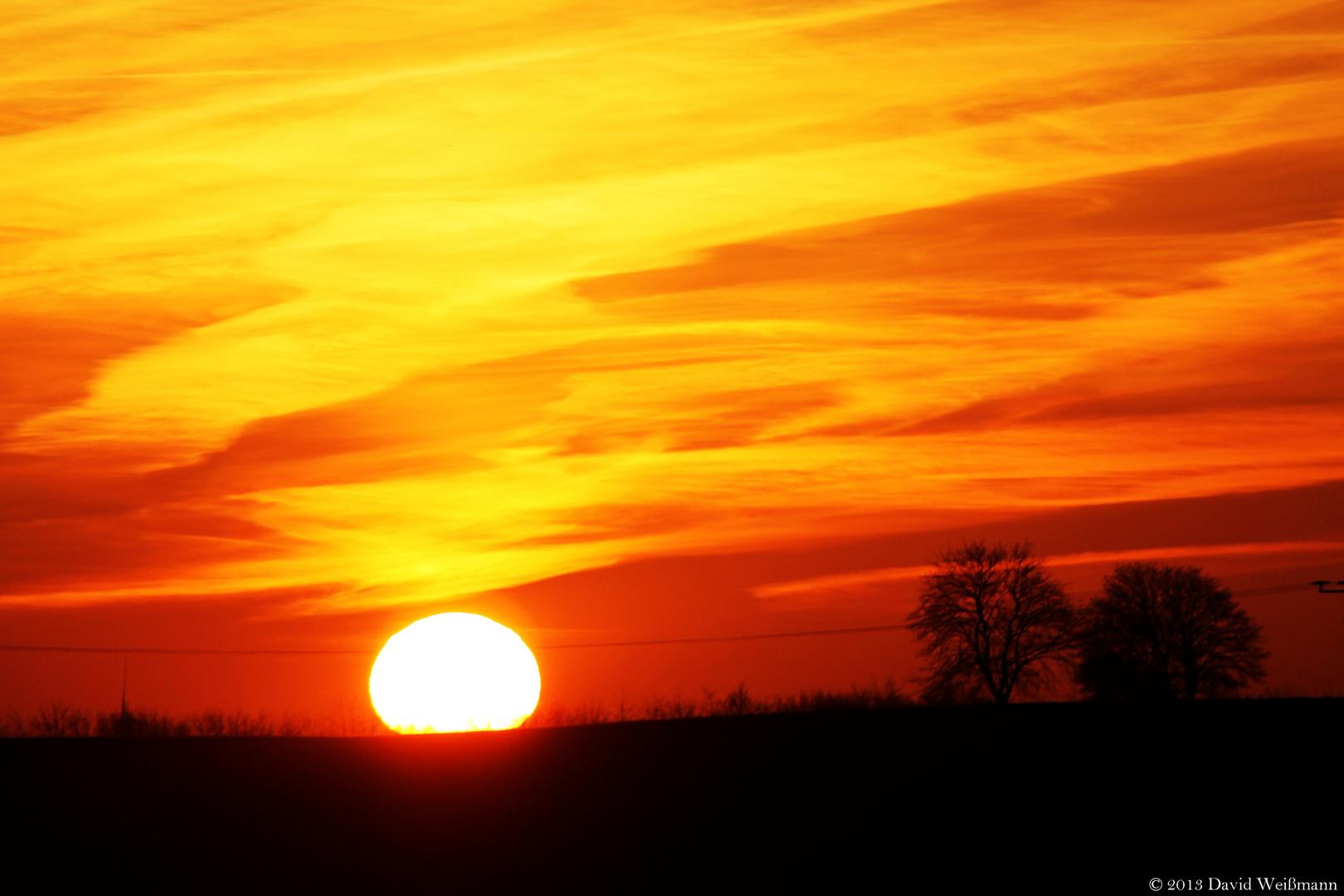 Der erste schöne Sonnenuntergang 2013