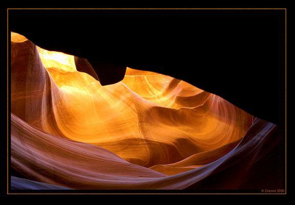 Der Fels tanzt im Licht