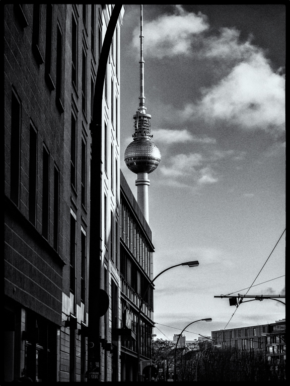 Der Fernsehturm aus anderer Perspektive