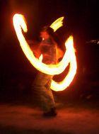 Der Feuerteufel auf unserer GOA-Party