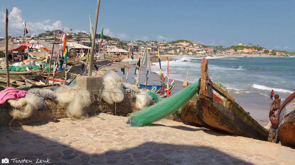 Der Fischerhafen von Cape Coast