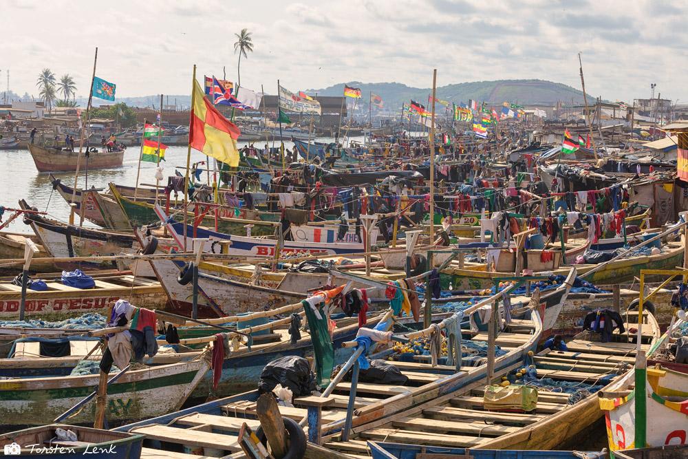 Der Fischerhafen von Elmina
