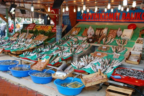 Der Fischmarkt in Istanbul