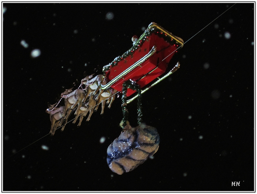 der fliegende Weihnachts mann