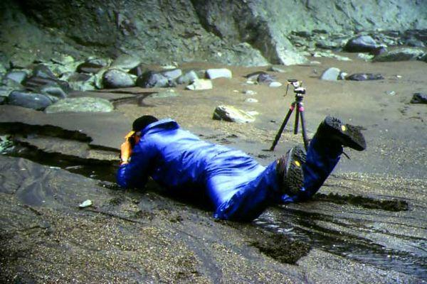 Der Fotograf in Aktion