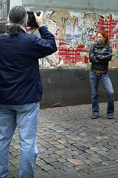 Der Fotograf und sein Modell
