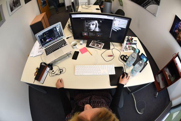 Der Fräulein Schwarz ihr Schreibtisch
