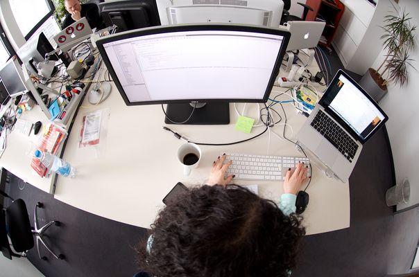Der Frau Ben Nasr ihr Schreibtisch