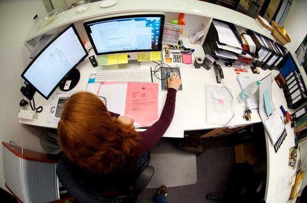 Der Frau Dücker ihr Schreibtisch