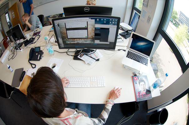 Der Frau Eberle ihr Schreibtisch