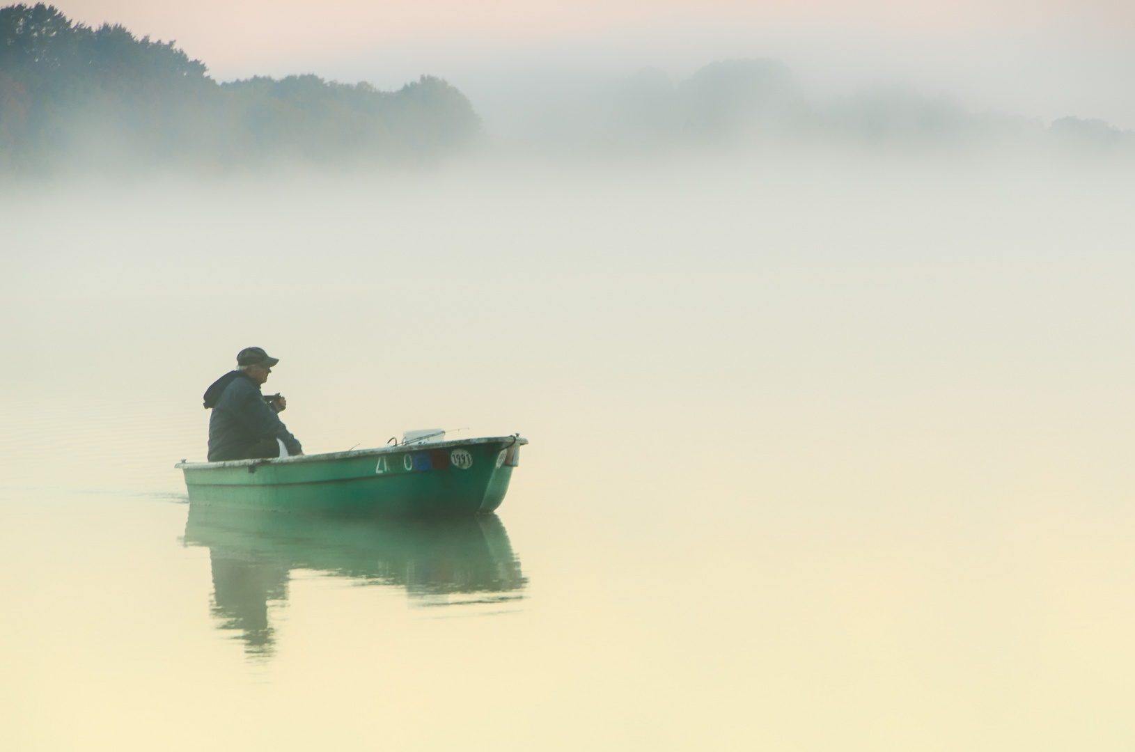 """"""" Der frühe ..Angler fängt den Fisch !"""