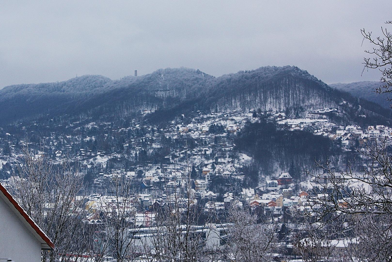 Der Fuchsturm mit Hausberg in Jena